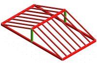 Modellizzazione - tetto semplice in legno